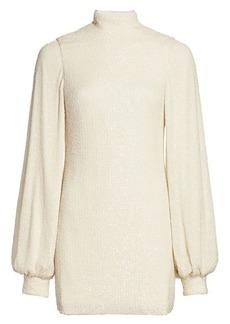 Alexis Lunia Blouson-Sleeve Sweater Dress