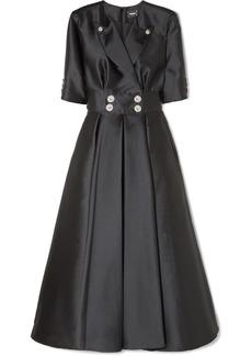 Alexis Mabille Crystal-embellished Satin Maxi Dress