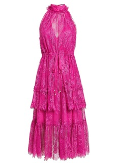 Alexis Magdalina Tiered Lace Midi Dress