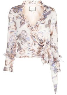 Alexis Marceau wrap-style top