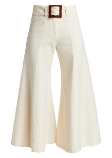 Alexis Markos High-Rise Wide-Leg Belted Pants