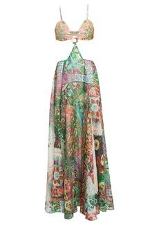 Alexis Marteena Cut-Out Printed Maxi Dress