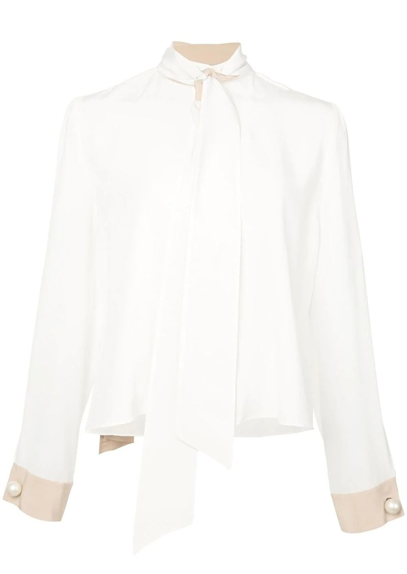 Alexis neck-tie silk blouse