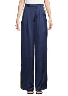 Alexis Nicoli Sports Stripe Silk Pants