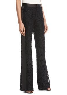 Alexis Nimma Flared-Leg Lace Tuxedo Pants