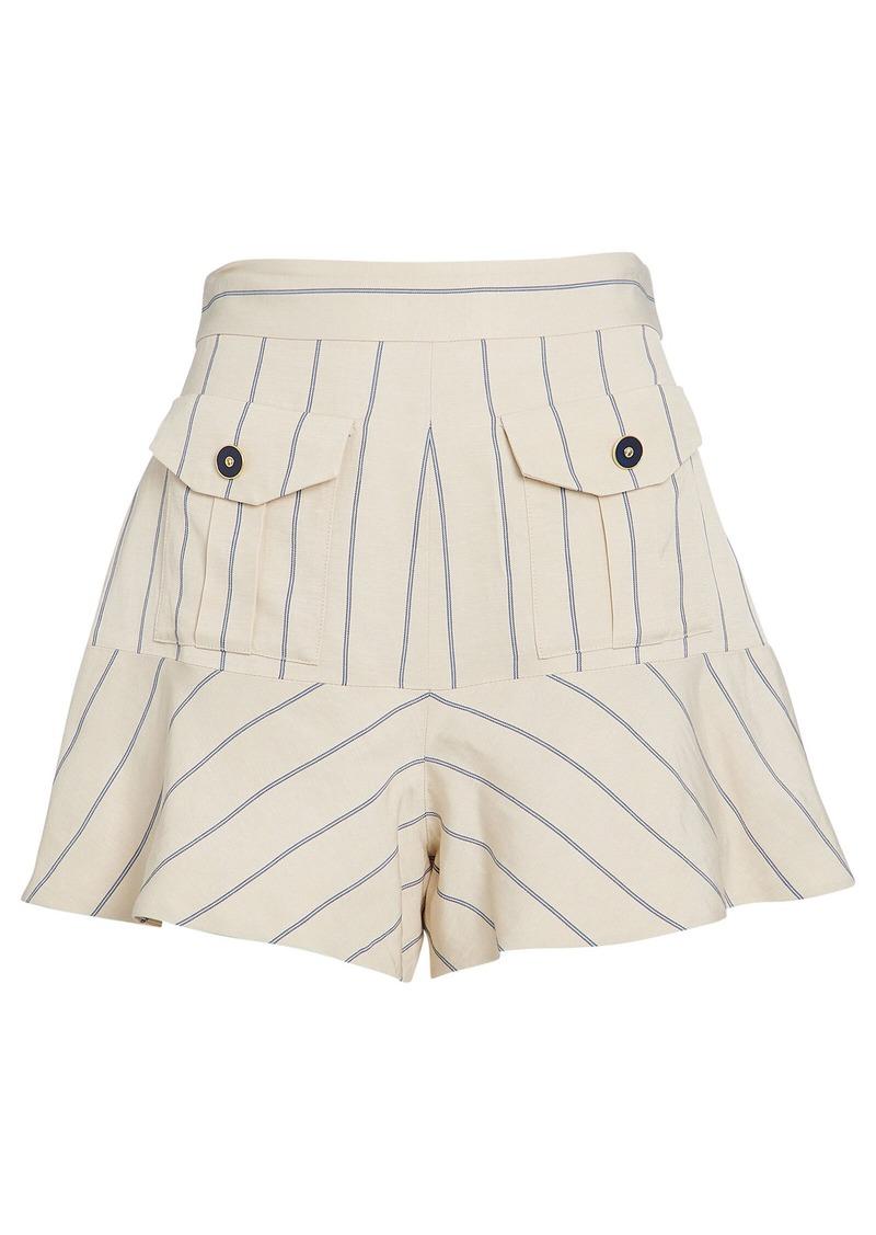 Alexis Norwood Striped Ruffle Shorts