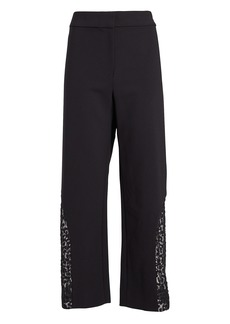 Alexis Novata Lace-Trimmed Cropped Pants
