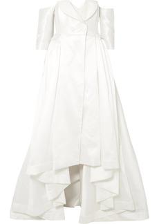 Alexis Mabille Off-the-shoulder Satin-piqué Gown