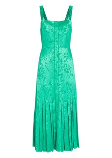 Alexis Oraina Sleeveless Jacquard Midi Dress