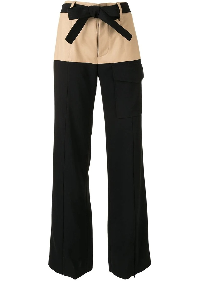 Alexis Ossun two-tone wide-leg trousers