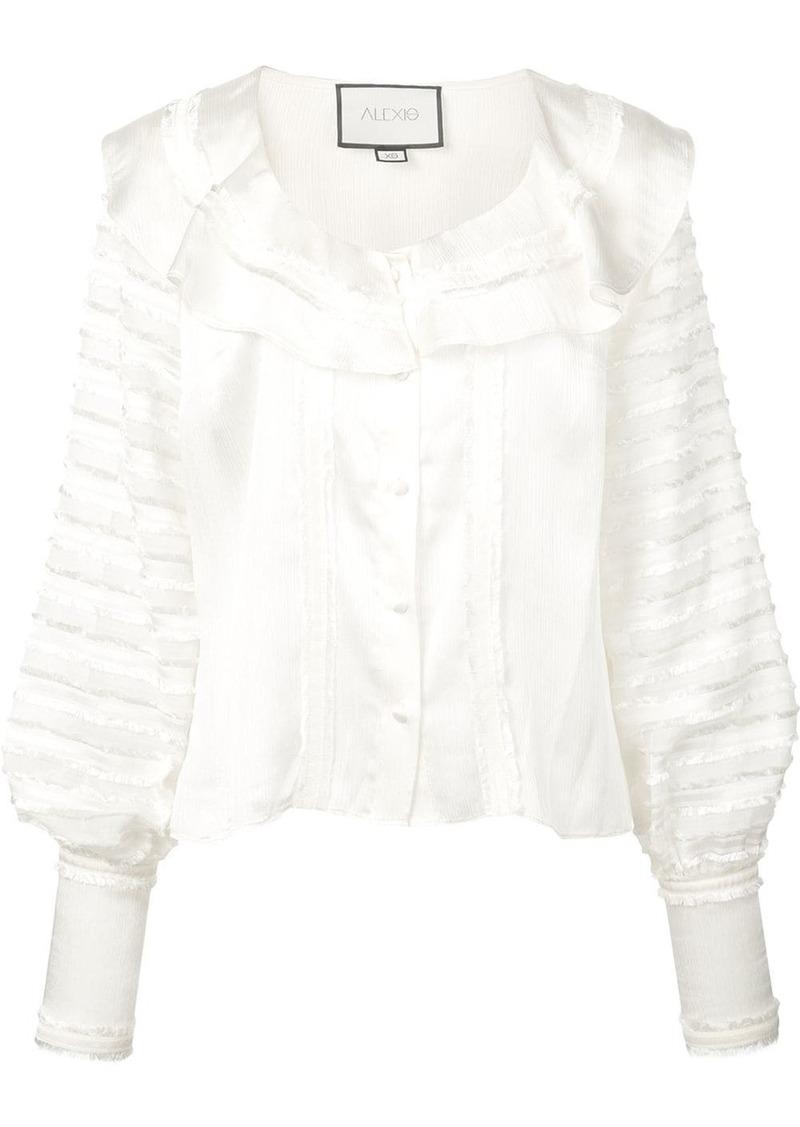 Alexis paneled ruffle blouse