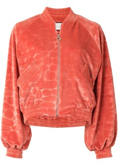 Alexis Perkins printed bomber jacket