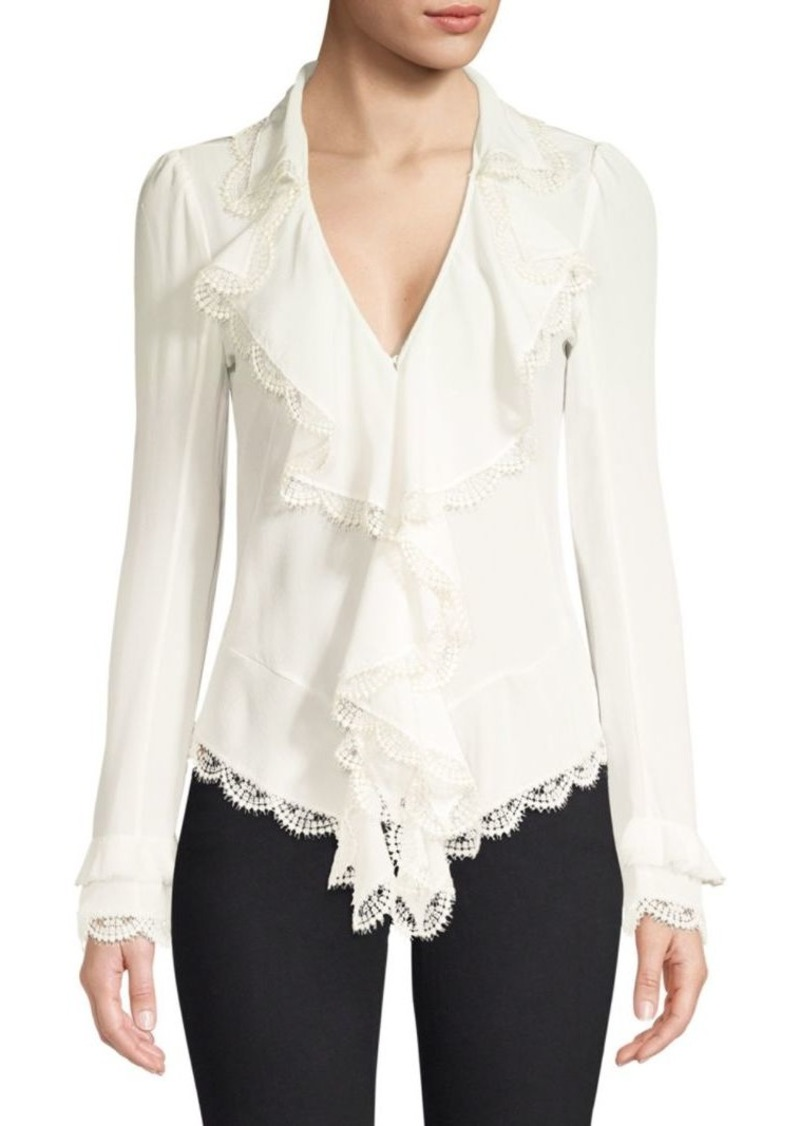 Alexis Phineas Lace Ruffle Silk Blouse