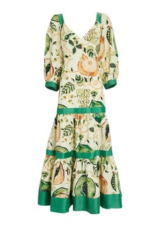 Alexis Pierah Linen-Blend Midi Dress