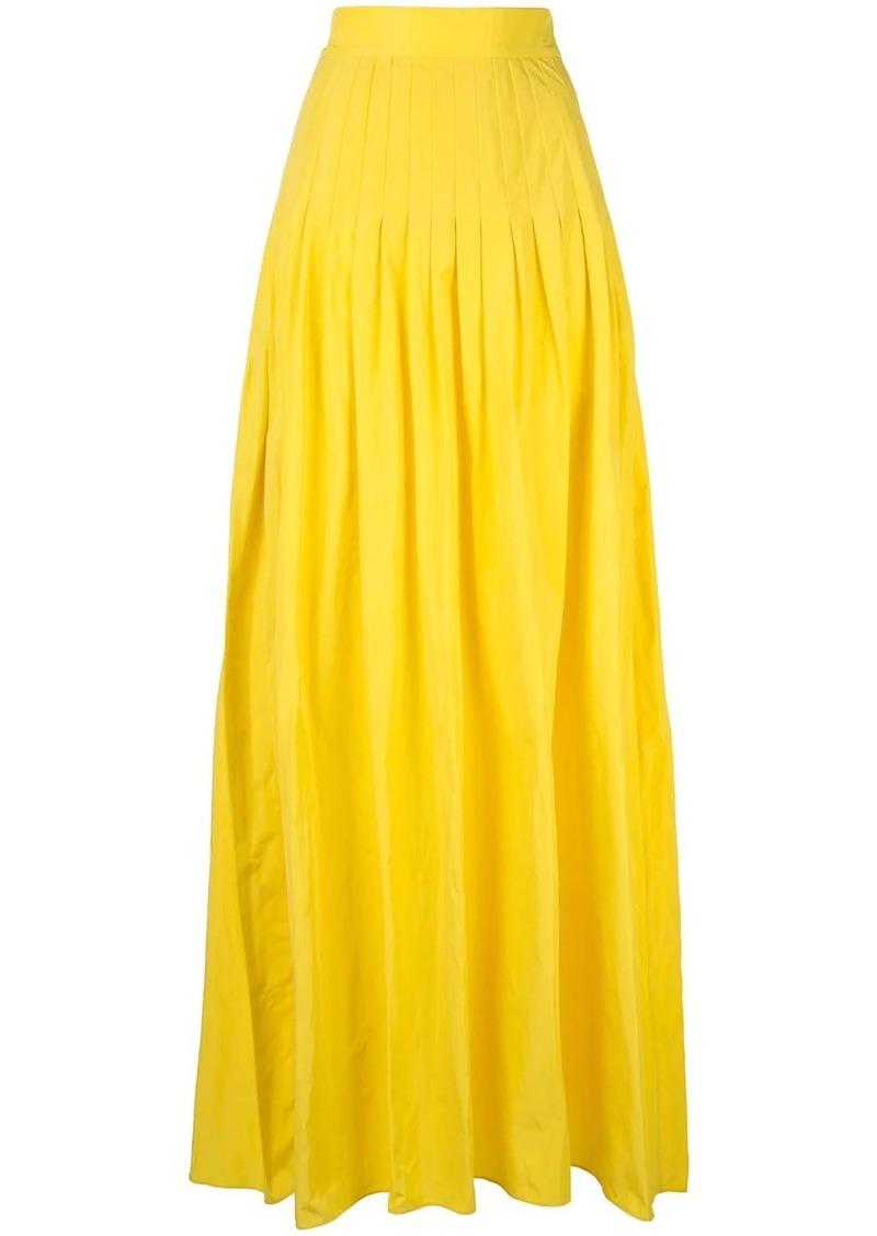 Alexis pleated a-line skirt