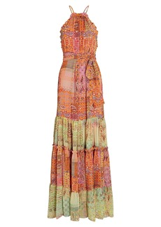 Alexis Rosaline Paisley Chiffon Maxi Dress
