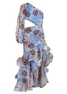 Alexis Sabetta Asymmetrical Floral High-Low Dress