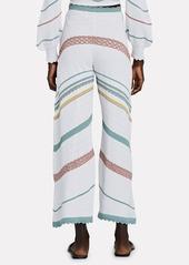 Alexis Saloni Pointelle Wide-Leg Pants