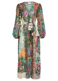 Alexis Shoshanna Printed Chiffon Wrap Dress