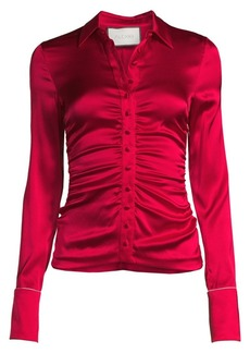Alexis Stacee Ruched Silk Shirt