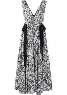 Alexis strap-detail maxi dress