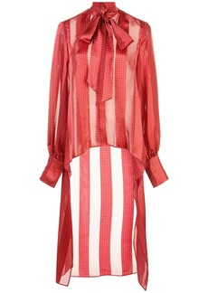 Alexis striped high-low shirt