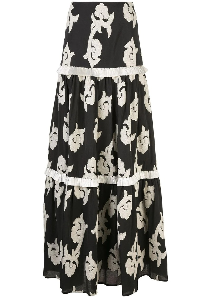 Alexis Surrey long tiered skirt