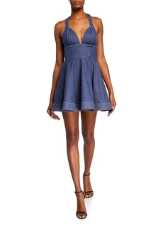 Alexis Tarrana Halter Flounce Short Dress