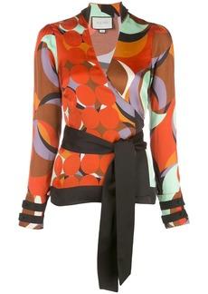 Alexis Tarvos wrap-style blouse
