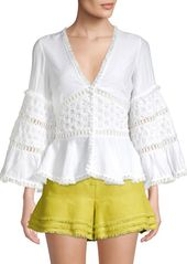 Alexis Tasoula Embroidered Top