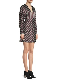 Alexis Tena V-Neck Striped A-Line Dress