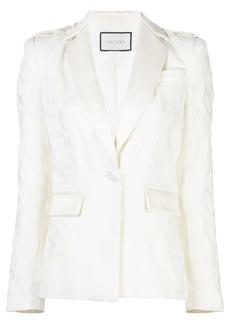 Alexis textured jacquard blazer