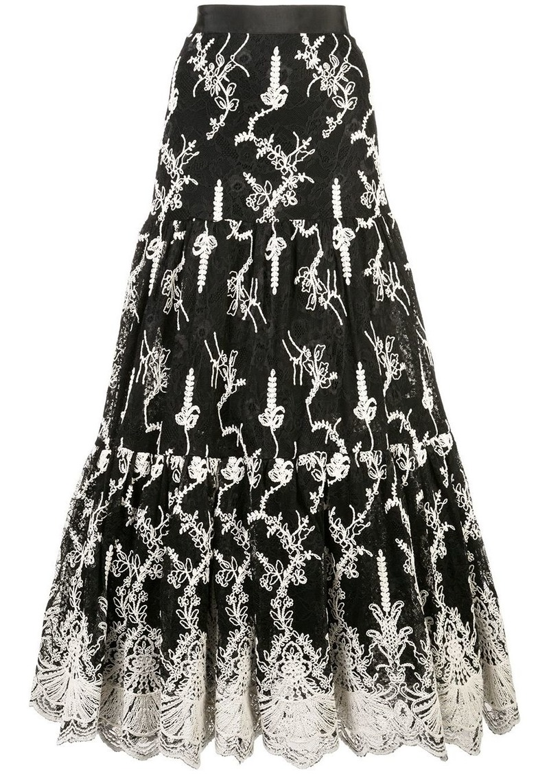 Alexis tiered lace skirt