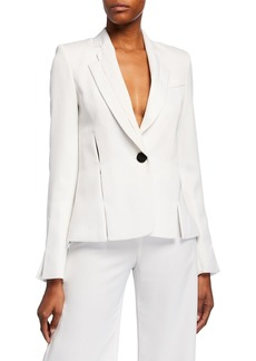 Alexis Vaska Slit Single-Button Blazer