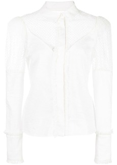 Alexis Virginia sheer-panels shirt