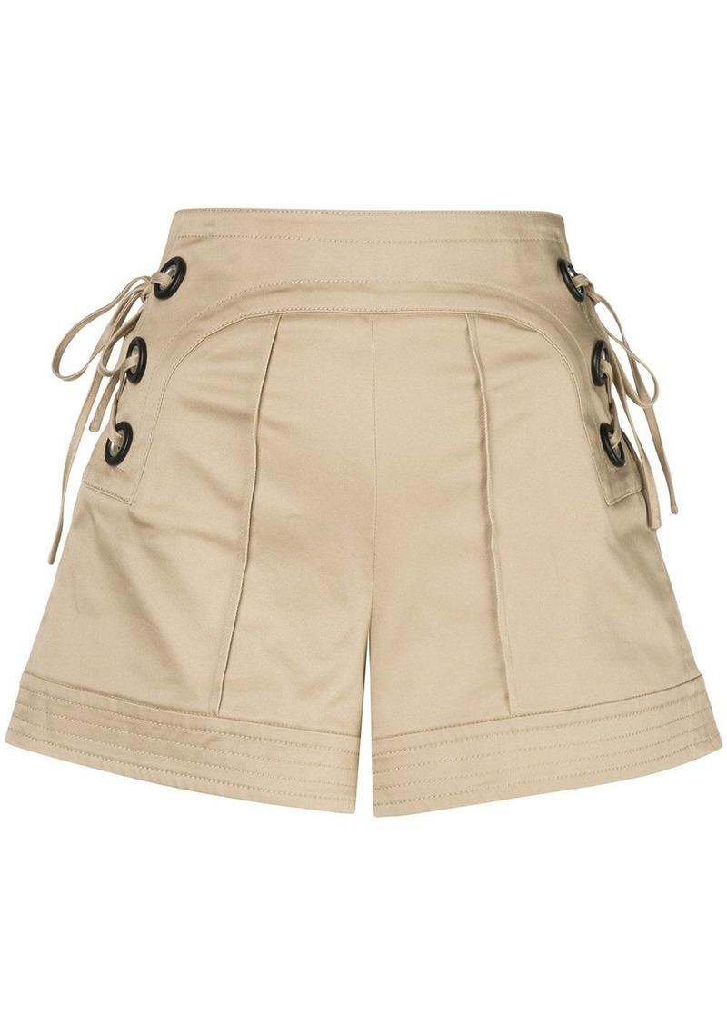 Alexis Winnick tie-fastening shorts