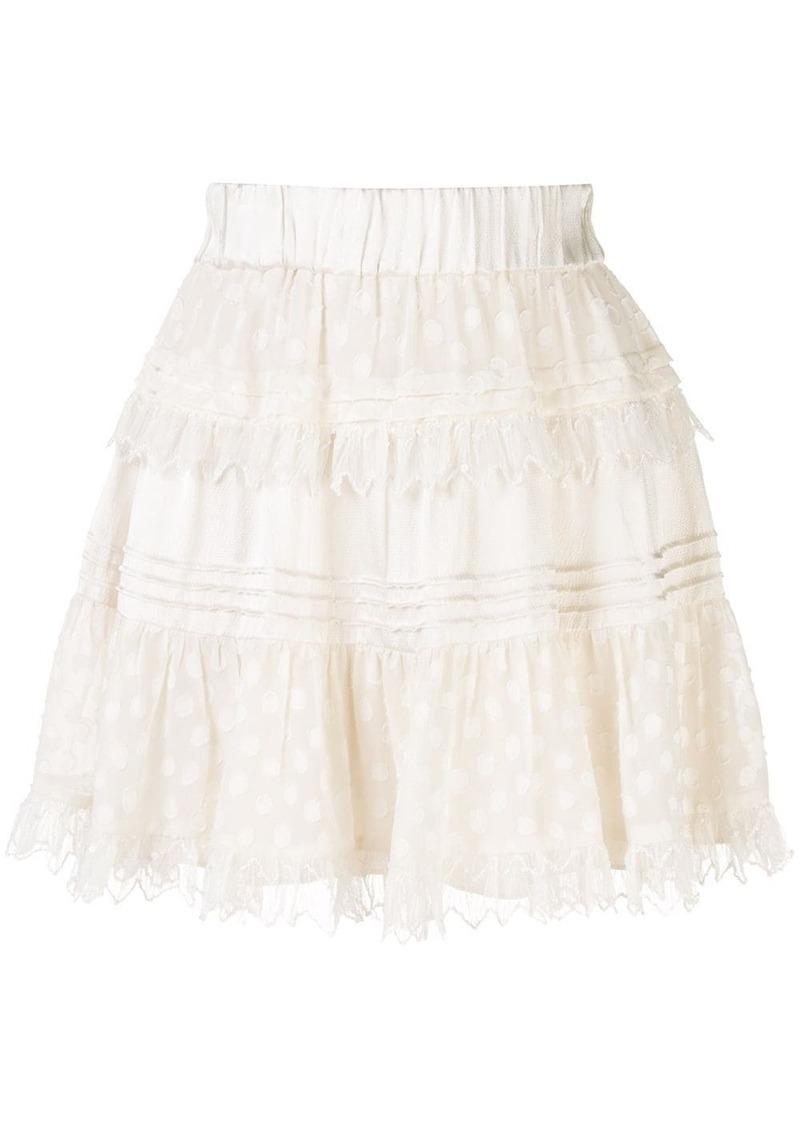 Alexis Yakira layered polka dot skirt