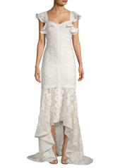 Alexis Zander Lace High-Low Gown