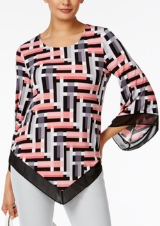 Alfani Petite Printed Pointed-Hem Top, Only At Macy's