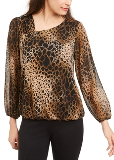 Alfani Animal-Print Top, Created for Macy's