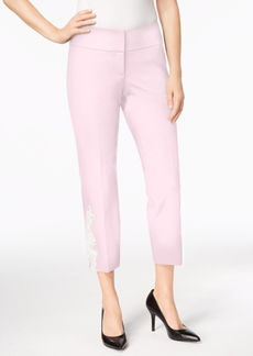 Alfani Applique Ankle Pants, Created for Macy's