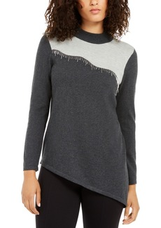 Alfani Asymmetrical Beaded Sweater, Created For Macy's