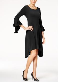 Alfani Asymmetrical Bell-Sleeve Dress, Created for Macy's