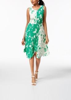 Alfani Asymmetrical Colorblocked Dress, Created for Macy's