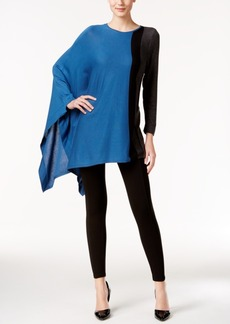 Alfani Asymmetrical Colorblocked Poncho Sweater, Only at Macy's