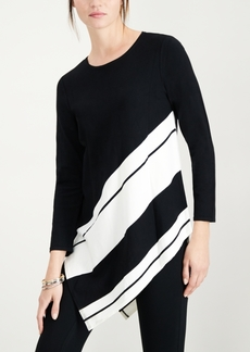 Alfani Asymmetrical Striped Sweater, Created for Macy's