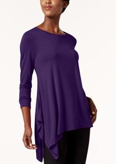 Alfani Asymmetrical-Hem Top, Created for Macy's