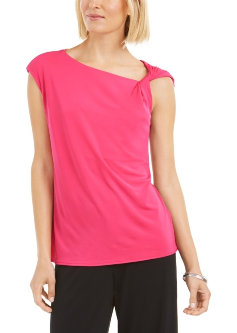 Alfani Asymmetrical Knotted Top, Created for Macy's
