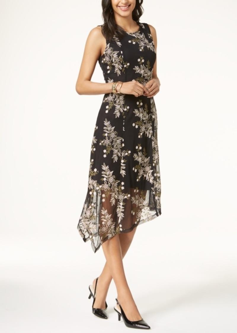 5b47399fb4e On Sale today! Alfani Alfani Petite Embroidered Handkerchief-Hem ...