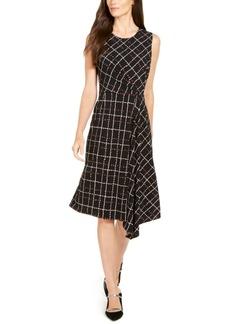 Alfani Asymmetrical Plaid Dress, Created for Macy's